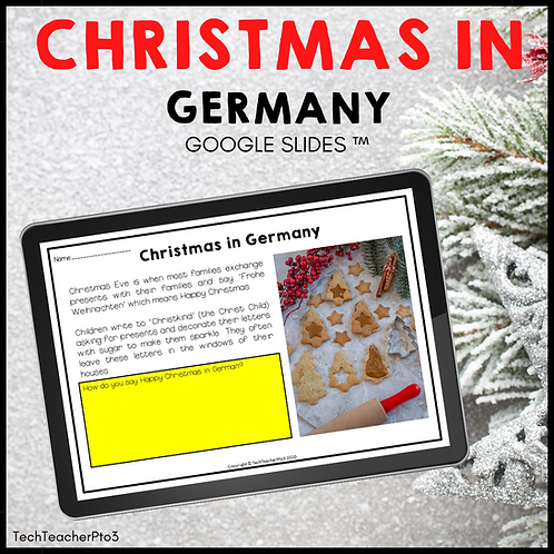 Christmas in Germany Google Slides ™ Holidays Around the World