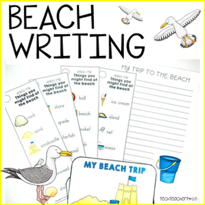 Beach Writing Activity