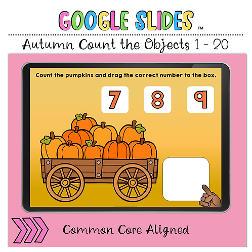 Autumn Fall Count the Number 1 to 20 Google Slides™ Activity