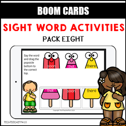 Sight Word Activities Pack Eight BOOM LEARNING CARDS