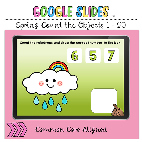 Spring Count the Number 1 to 20 Google Slides™ Activity