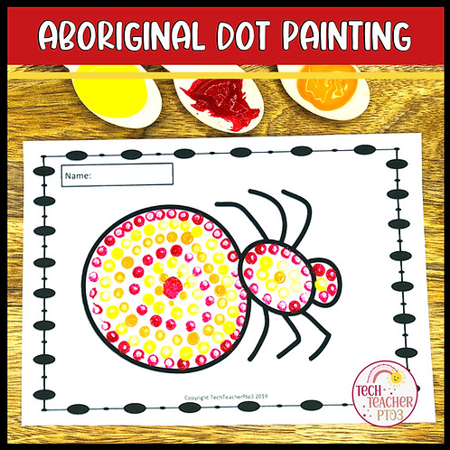 Aboriginal Dot Painting Activity