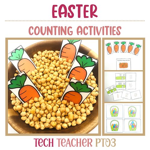 Easter Counting Activities 1 to 10