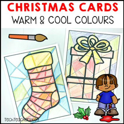 Christmas Art Activity Warm and Cool Colours