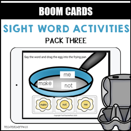 Sight Word Activities Pack Three BOOM LEARNING CARDS