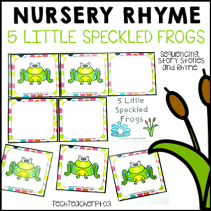 5 Little Speckled Frogs Nursery Rhyme Activities
