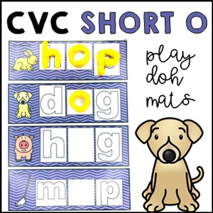 CVC Short O Phonics Sight Word Play Doh/Dough Mats