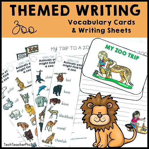 Themed Writing Activity Zoo