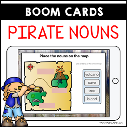 Parts of Speech Pirate Nouns BOOM LEARNING CARDS Distance Learning