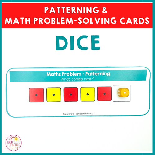 Dice Patterning and Math Problem Solving Cards