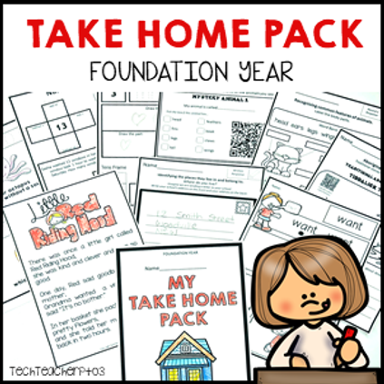 Take Home Pack Foundation Year Homework