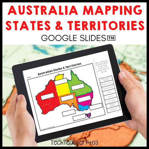 Australia Mapping States Territories and Capitals Google Slides