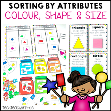 Sorting by Attributes Size Color Shape