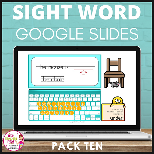 Sight Word Activities for Google Slides Pack Ten Interactive Distance Learning