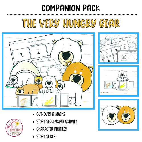 The Very Hungry Bear by Nick Bland Story Retell Activities