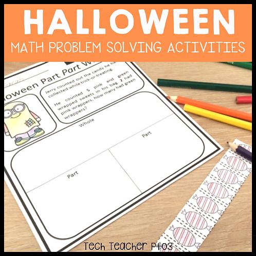 Halloween Math Problem Solving Part Part Whole