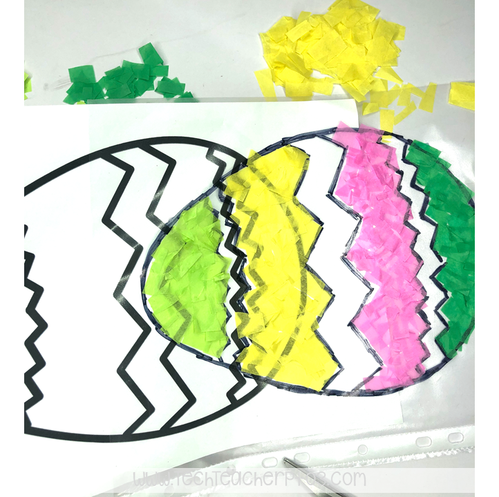 Easter egg craft activity