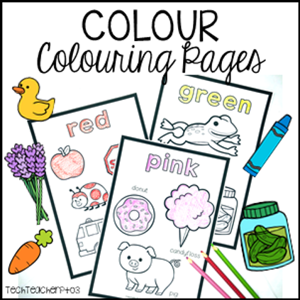 Colour Colouring Pages