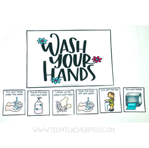 Free teacher hand washing activity