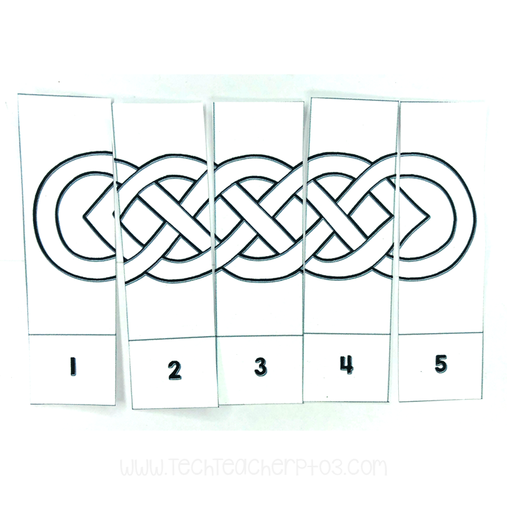 St Patrick's Day number sequencing cards free download for teachers and students