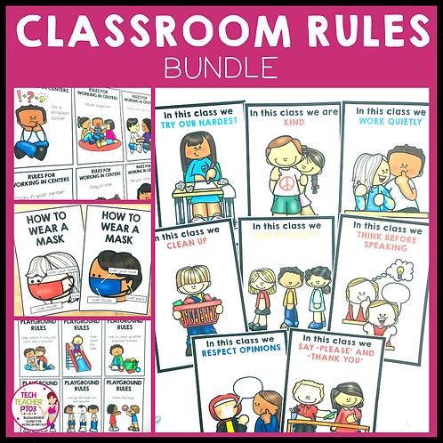 SAVE 20% Classroom Rules Bundle