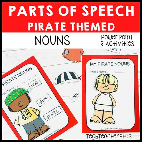 Parts of Speech Pirate Nouns Grammar Activities