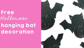 Free Halloween Hanging Bat Decoration