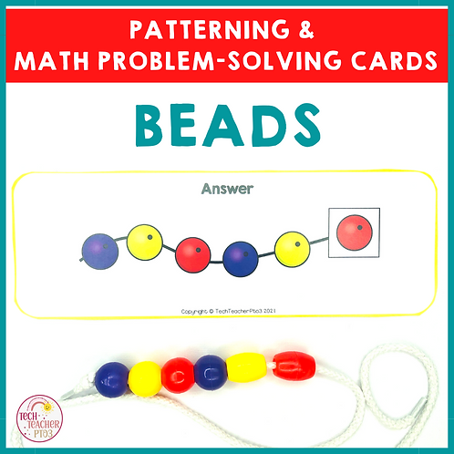 Bead Patterning and Math Problem Solving Cards