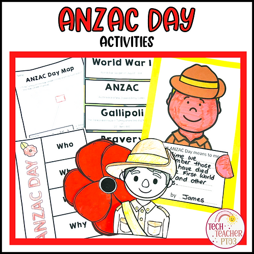 Anzac Day Activities Pack