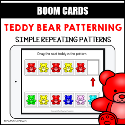 Teddy Bear Patterning Simple BOOM LEARNING CARDS