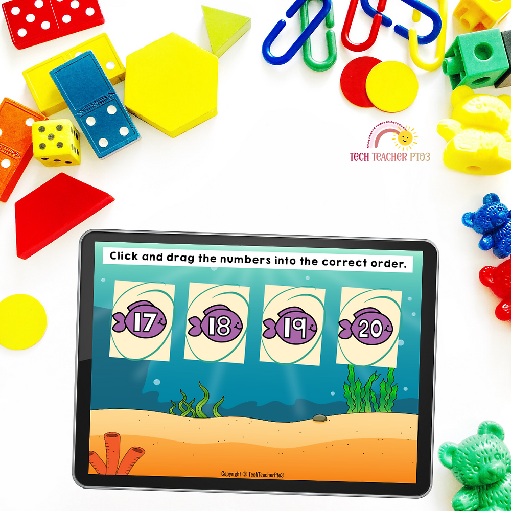 The best digital technology tools for your kindergarten or first grade classroom for teaching math and literacy centers