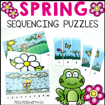 Spring Activities Number Sequencing Puzzles 1 to 20
