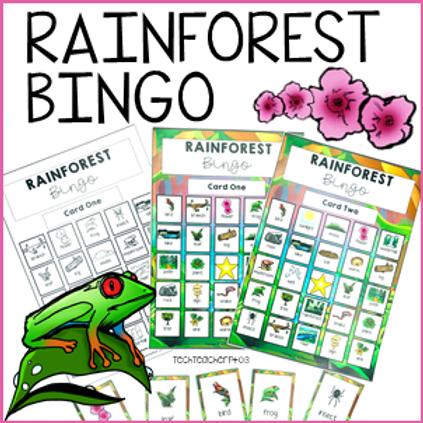 Rainforest Bingo Game