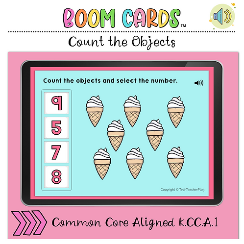Count the Number 1 to 10 BOOM LEARNING CARDS Activity