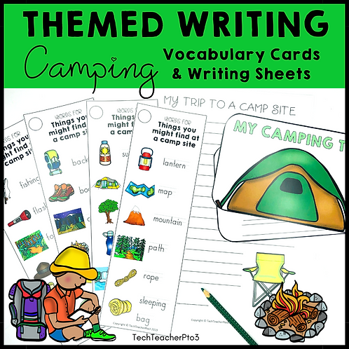 Themed Writing Activity Camping