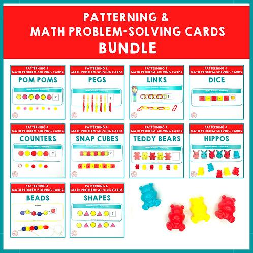 SAVE 30% Patterning and Math Problem-Solving Cards Bundle