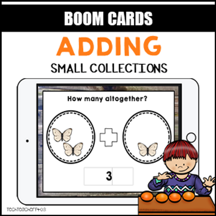 Adding Small Collections BOOM LEARNING CARDS Activity