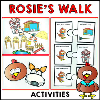 Rosie's Walk by Pat Hutchins Story Retell Activities