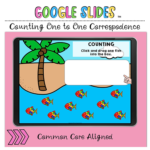 Counting One to One Correspondence Google Slides™ Activity