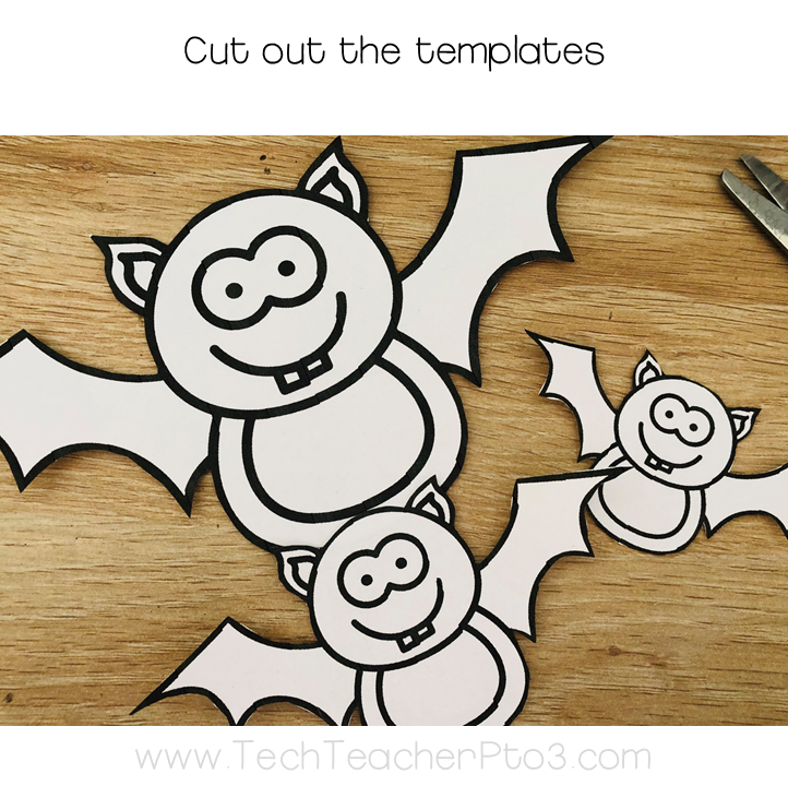 Print out the free template of bats and cut them out