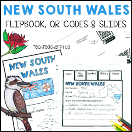 New South Wales Interactive Notebook and Slides