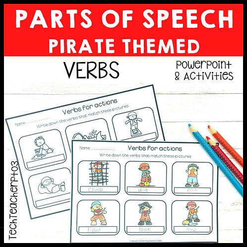 Parts of Speech Pirate Verbs Grammar Activities