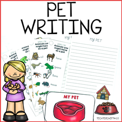 Pet Writing Activity