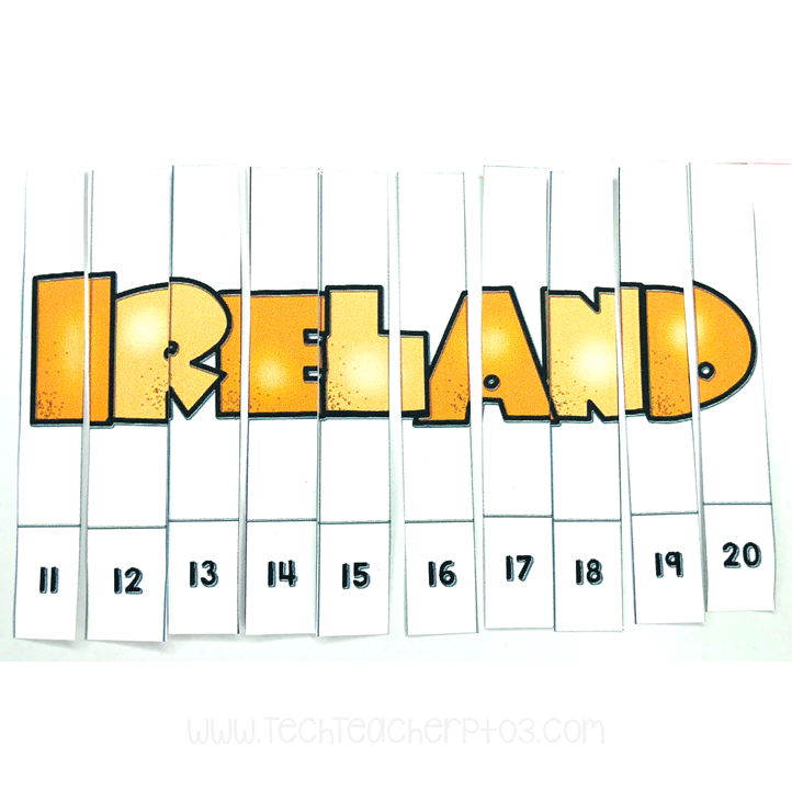 St Patrick's Day free download for teachers and students number sequencing activity