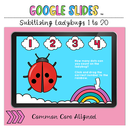 Subitizing Ladybugs Google Slides™ Activity
