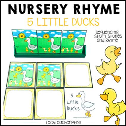 5 Little Ducks Nursery Rhyme Activities