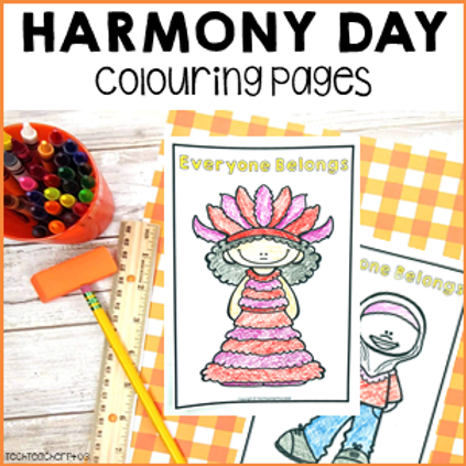 Harmony Day Activities Colouring Pages