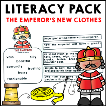 The Emperor's New Clothes Literacy Activities