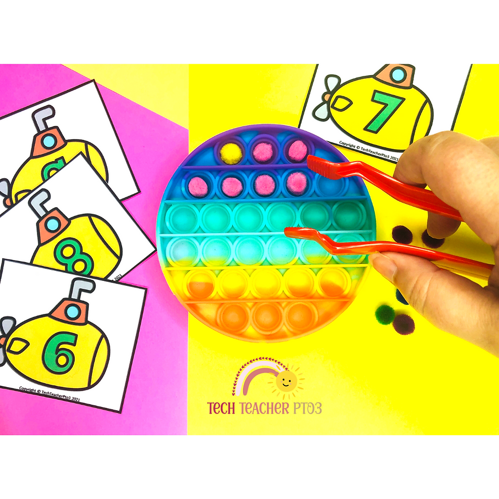 Krazy Poppers for the classroom. Fun activities for math centers  or literacy ideas for learning with these educational tools.