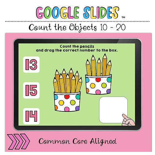 Count the Number 10 to 20 Google Slides™ Activity